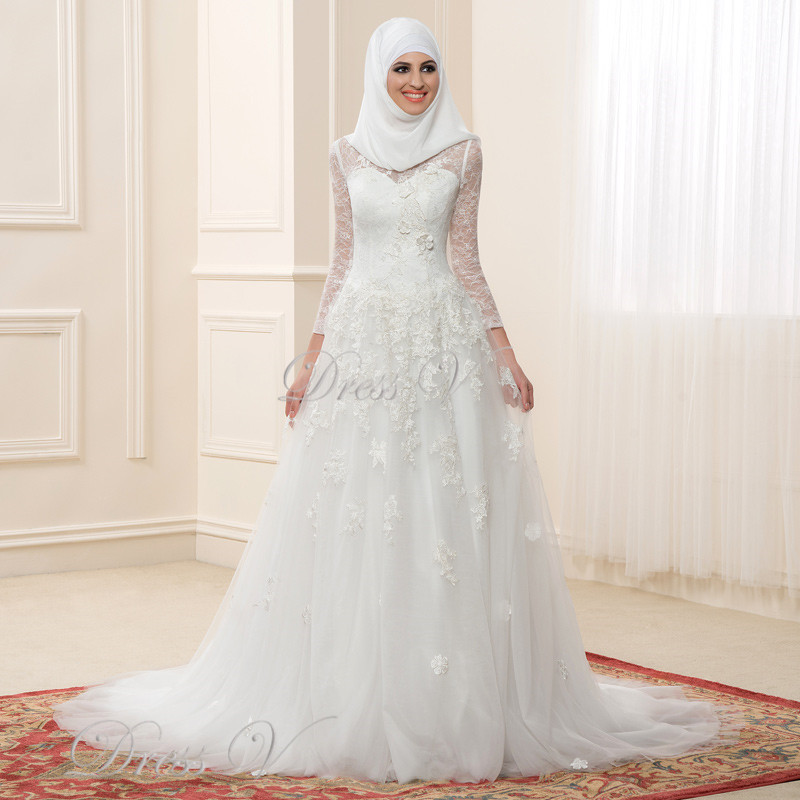 Wedding Dress Muslimah Simple : Get cheap islamic bride aliexpress alibaba group