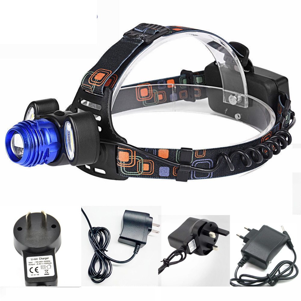 Bicycle Bike Light 30W 15000LM CREE XML T6 Zoomable Headlamp Head Light Torch Lamp 18650 Charger For Fishing Luz Bicicleta cree xml l2 led zoomable headlamp red green blue fishing 4 mode head lamp light torch hunting headlight 18650 battey usb charger