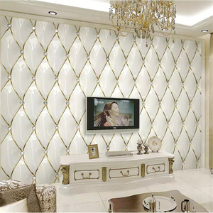 beibehang Custom wallpaper 3d mural luxury gold crystal rhombic stitching 3d European soft bag background wall papers home decor
