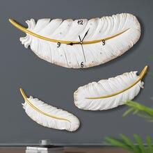 Настенные часы с полимерными перьями тихие современные дизайнерские