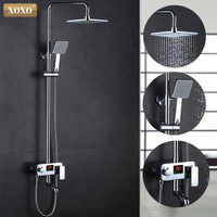 XOXO new luxury shower water dynamic digital intelligent display and shower faucet The led shower faucet 88020