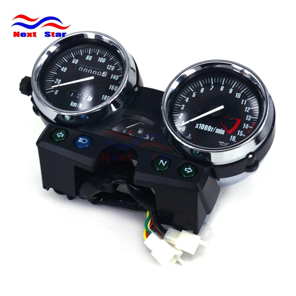 180 Motorcycle Speedometer Tachometer Odometer Display Gauges For KAWASAKI ZRX400 ZRX750 ZRX1100 94 95 96 97 Street Bike motorcycle speedometer tachometer speed instrument assembly for kawasaki zephyr 400 x zrx400 zrx750 zrx1100