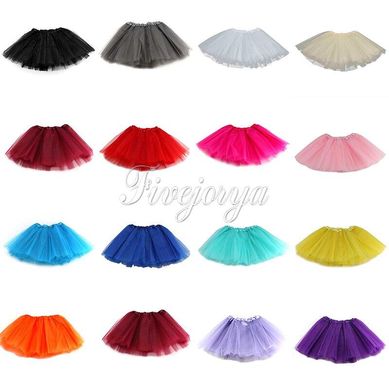 847c2a5f3b236 Nouvelle arrivée mode bébés filles moelleux princesse Ballet de danse Tutu  jupe Mini Organza Tulle 3 layere jupe pour 2 - 8 anos robe Up