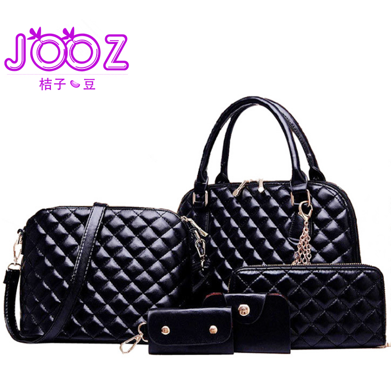 Luxury Woman HandBag Diamond Lattice PU Leather Lady Handbags 5 Pcs Composite Bags Set Crossbody Bag Female Purse Wallet Clutch jooz brand luxury belts solid pu leather women handbag 3 pcs composite bags set female shoulder crossbody bag lady purse clutch