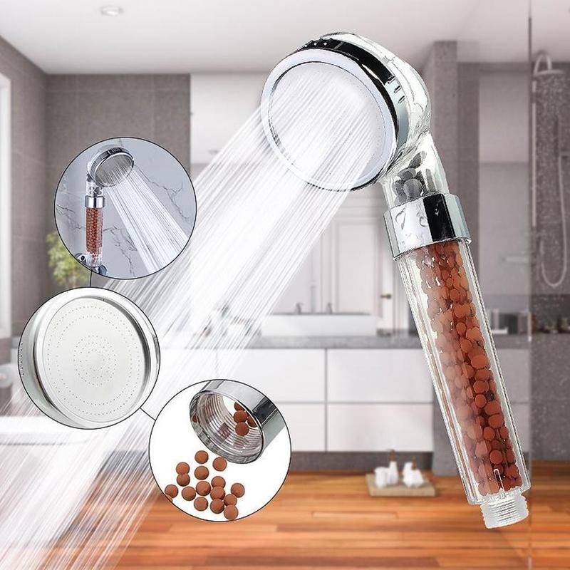 Monaki Ionic Filtration Dusche Kopf 3 Modus Hochdruck Stein Negative Ionen
