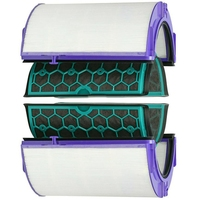 Para dyson hp04 tp04 dp04 selado dois estágios purificador de ar hepa & filtro carbono conjunto Peças de purificador de ar     -