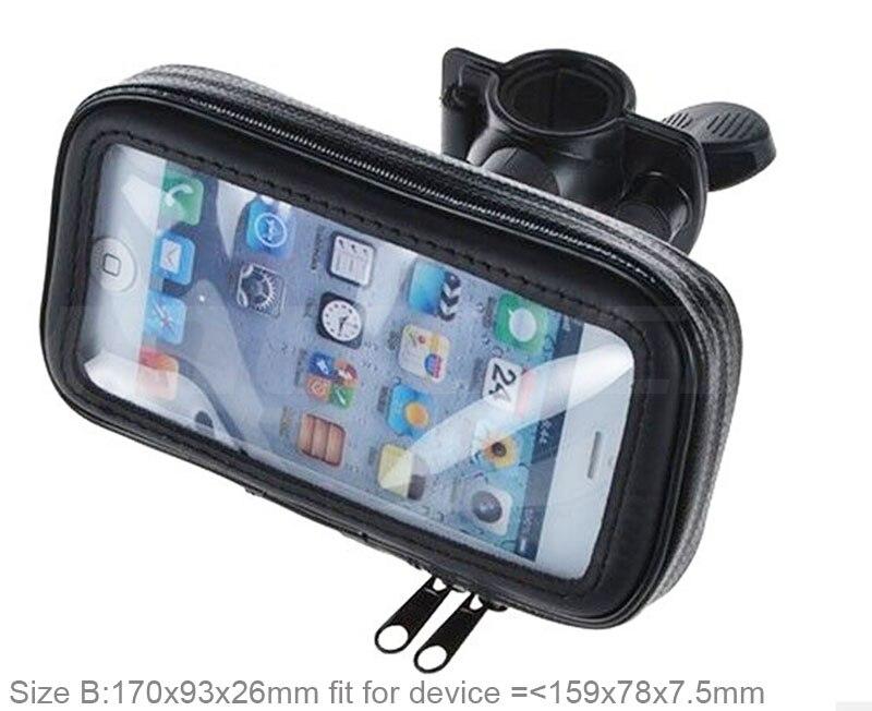 Bicicleta teléfono móvil titular de la pantalla táctil a prueba de agua caja de