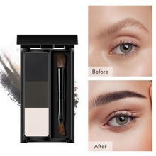 2019 Mini 3-color Eyebrow Powder Long Lasting Waterproof Smudge-proof Palette