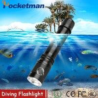 6200Lm cree T6 impermeable buceo subacuático 80 metro LED buceo linterna antorcha lámpara de luz camping Lanterna con regulación sin escalonamientos