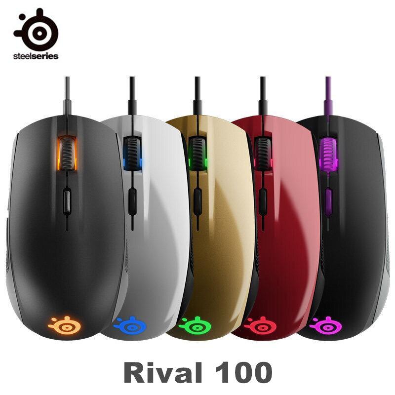 Souris de jeu originale SteelSeries Rival 100 souris optique filaire USB 4000 DPI avec éclairage prisme RGB pour LOL CS