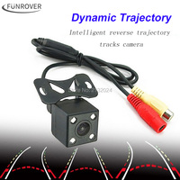 Funrover Intelligent Dynamic Trajectory Tracks Rear View Camera HD CCD Reverse Backup Camera Auto Reversing Parking