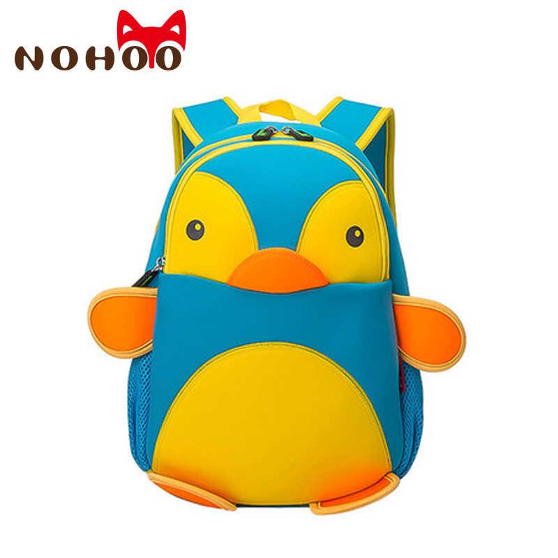 63431a7f7ad5 NOHOO 3D Penguin Waterproof Bags For Girls Boys Animals Backpack Toddler  Children Cartoon School Bag Kid