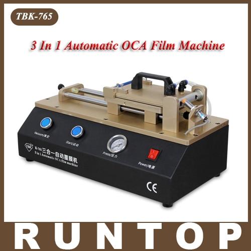 TBK-765 Universal 3 in 1 Automatic OCA Film Laminating Machine  Built-in Vacuum Pump