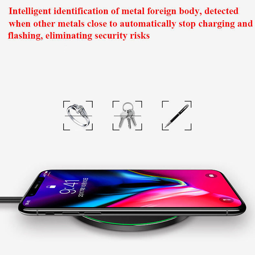 15W Qi Fast Wireless Charger For Samsung S10 S9 S8 Note 9 Huawei Mate 20 P30 Pro 10W Charging Pad for iPhone XS Max XR X 8 Plus in Mobile Phone Chargers from Cellphones Telecommunications