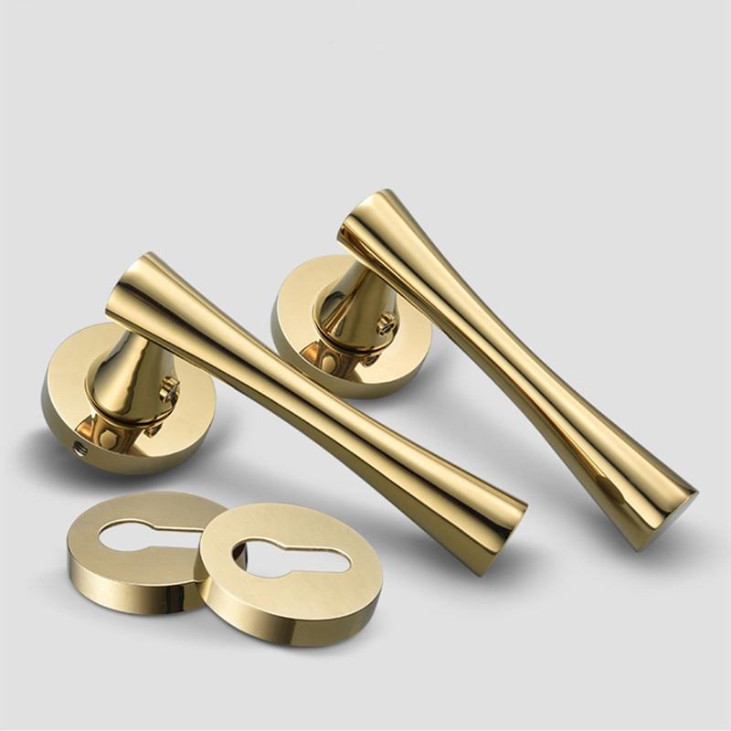 Zinc Alloy Gold Plated Door Handles
