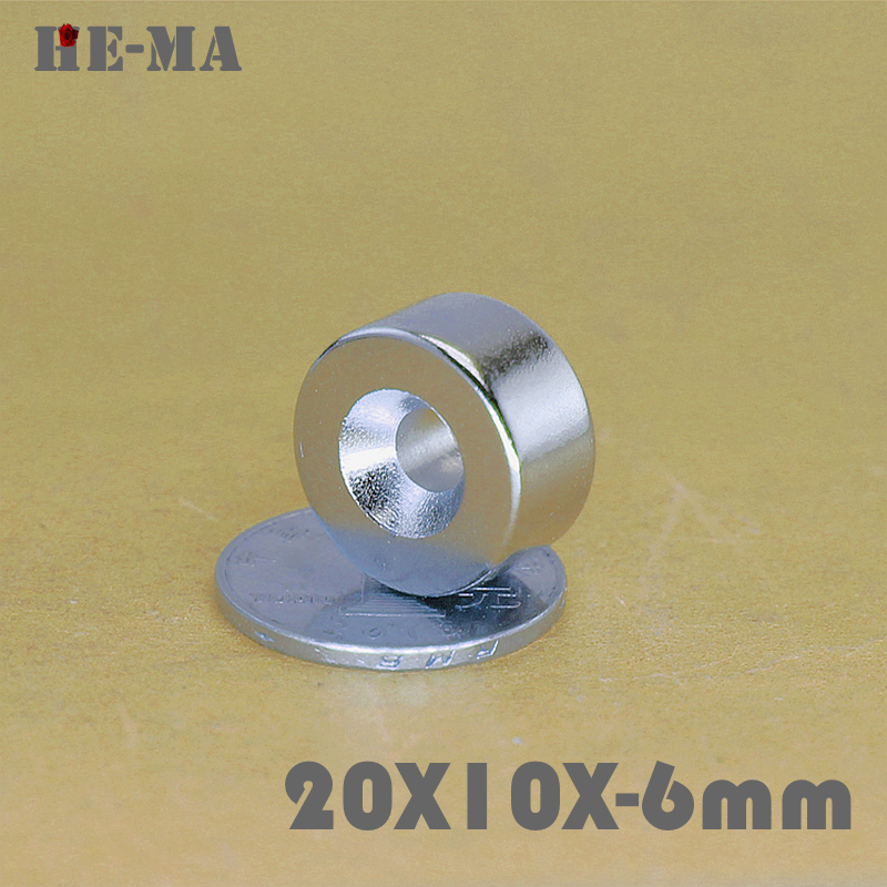 5Pcs Neodymium Magnet Ring 20x10mm With Hole 6mm Permanent N35 Small Round Super Strong Powerful Magnetic Magnets 20x10 6mm in Magnetic Materials from Home Improvement