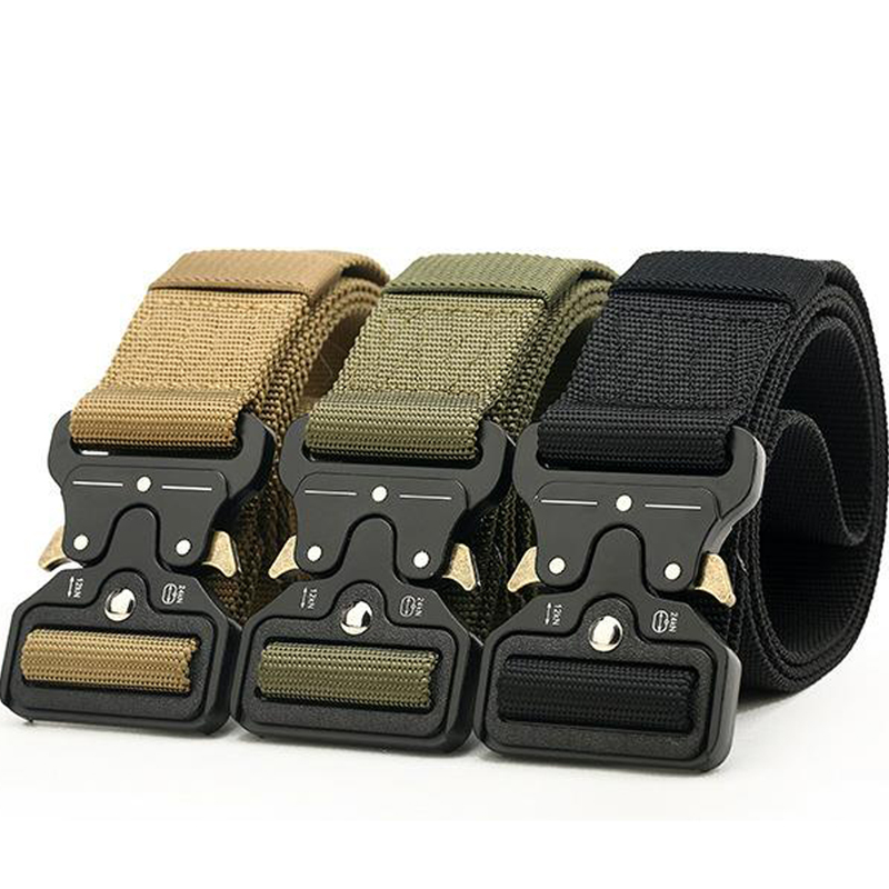 4.5cm SWAT Military Equipment Mens Heavy Combat Tactical Belt Sturdy Nylon Metal Buckle Adjustable Hunting Accessories DLY0084.5cm SWAT Military Equipment Mens Heavy Combat Tactical Belt Sturdy Nylon Metal Buckle Adjustable Hunting Accessories DLY008