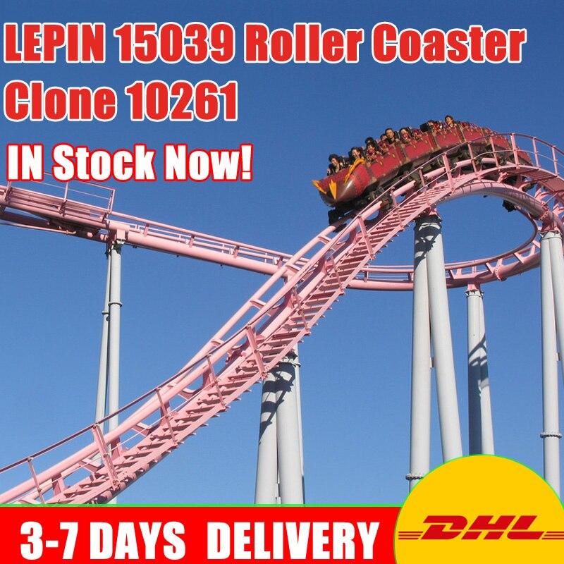 Moc 10261 Lepin 15039 4619 pcs Bâtiment Le Roller Coaster Ensemble Buidling Blocs Briques Nouveau Enfants Jouets À Collectionner Jouet Cadeau modèle