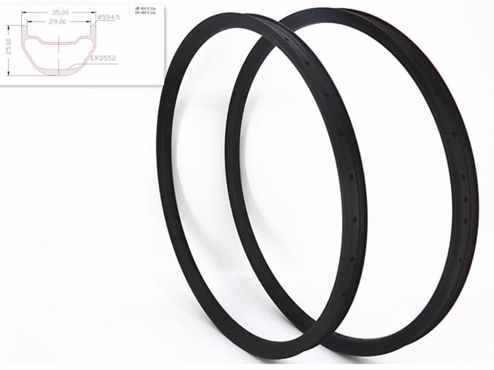 carbon mtb rims 27.5er XC 35X25mm 650B tubeless Mountain bicycle clincher 27.5er MTB Bike UD clincher matte glossy 28H 32H 430g