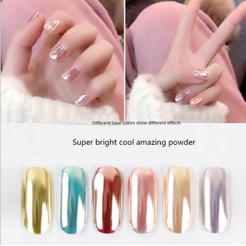 1g Super bright cool amazing fairy Magic Mirror Effect Nail Glitter Powder Shimmer Nail Art Pigment Gel Polish Shinning shinning glitter mirror powder tip diy nail art magic glimmer metal silver decoration