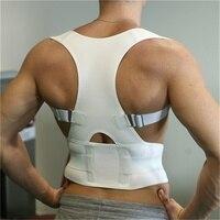 Терапия Корректор осанки подтяжки плечо назад поддерживающий бандаж для Для мужчин Для женщин подтяжки и Поддержка s ремень на плечо Коррек...
