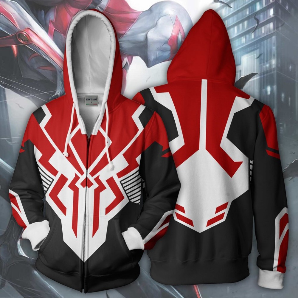 BIANYILONG 2018 new hoodies sweatshirts coat hoodies Legion suit spiderman clothes 2099 3D printed zipper hoodies tops