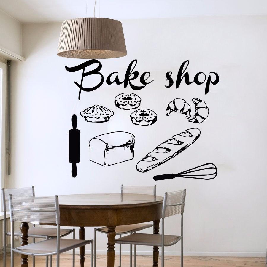 Aliexpress.com : Buy Bakery Shop Vinyl Wall Decal Bakery ...