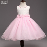 Yingwaaiyi Lace Princess Party Girl Dress Baby Clothes Kids Bridesmaid Dress Baby Gowns Bridesmaid Princess Dresses