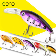 DONQL Minnow Crankbait Fishing 14g 10cm Wobblers Artificial Bait Bass Fishing Lures Hard bait Pesca Fishing Tackle