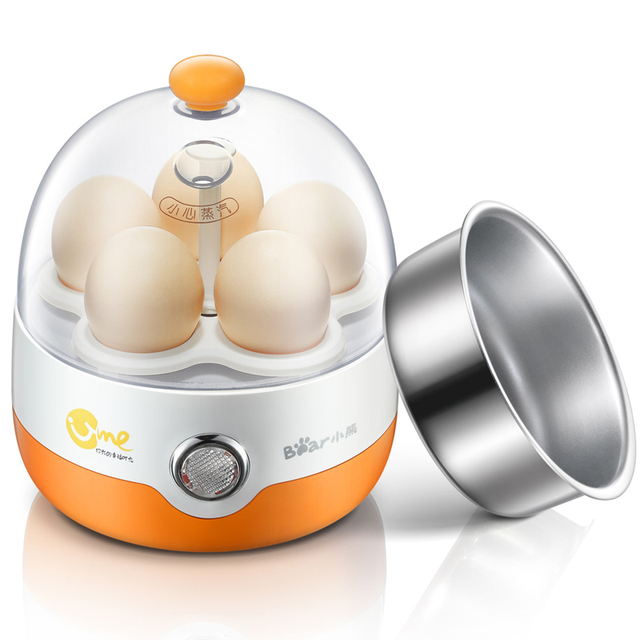 220V Electric Mini Portable Egg Boiler Machine 5 Holes Multifunctional Steamed Custards Egg Boil With Auto-Off Function