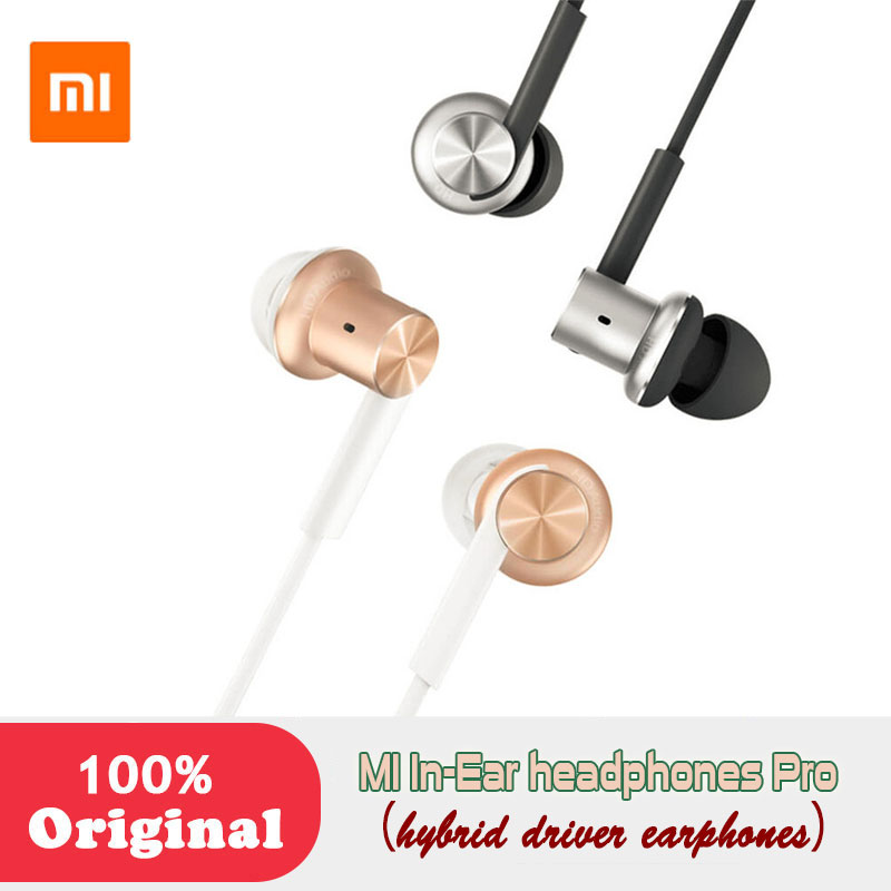 Xiaomi Hybrid Dual Drivers Original MI In-Ear Earphones Pro dynamic balanced armature Optimized sound quality Circle Iron xiaomi hybrid dual drivers earphones 2 black