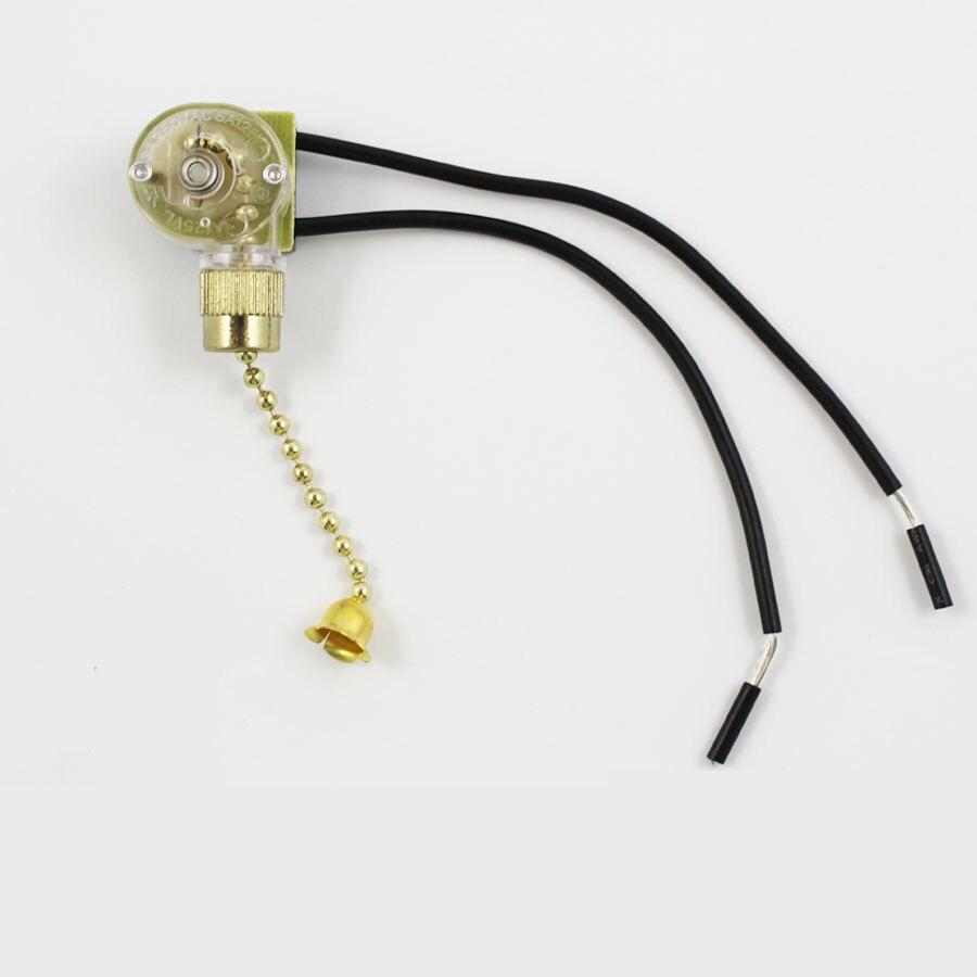 Lampe Reißverschluss Schalter Deckenventilator Schalter 2 Draht ...