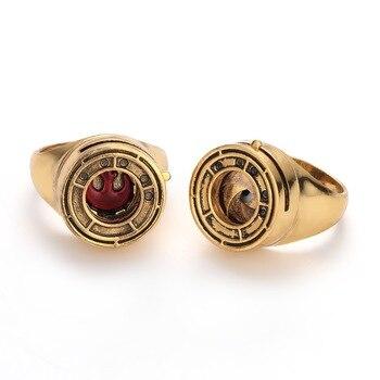 Anillo de resina de Star Wars, réplica del anillo de la Alianza Rebelde Iris Cooper del último Jedi de Rose Tico, joyería para mujeres/hombres