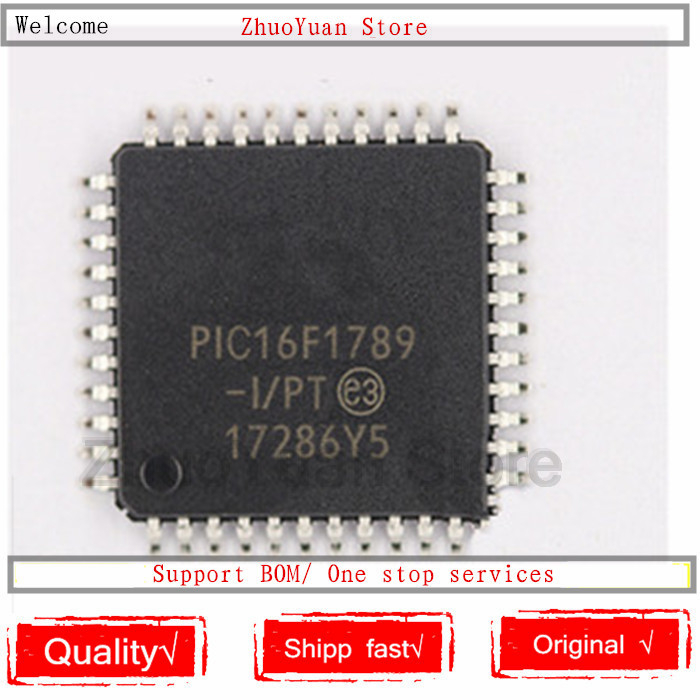 1PCS/lot PIC16F1789-I/PT PIC16F1789 16F1789 TQFP44 New Original IC Chip PIC16F1789-I
