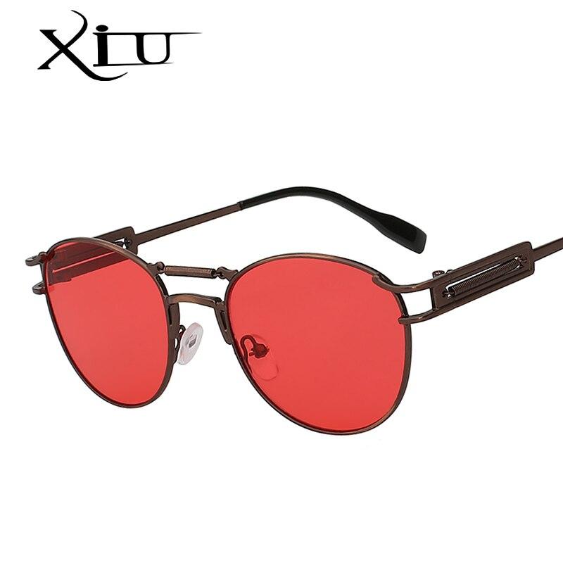XIU Steampunk Óculos De Sol Dos Homens Gêmeo Vigas de Metal Marca Do  Desenhador Do Vintage b756847996