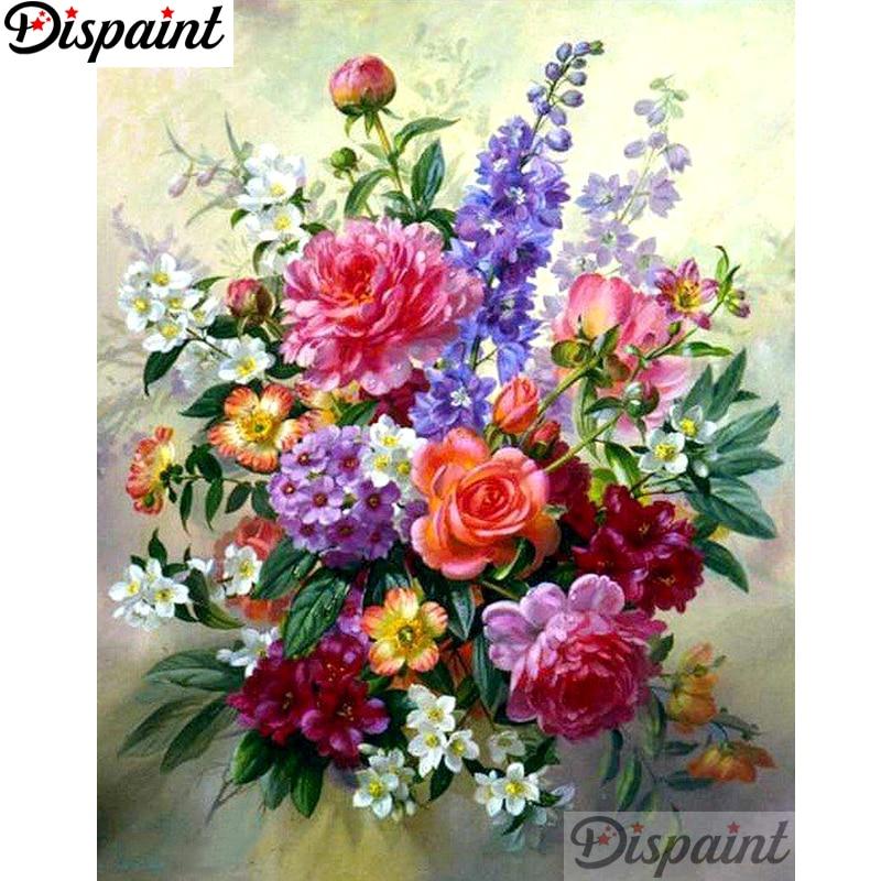 """Dipaint полная квадратная/круглая дрель 5D DIY Алмазная картина """"цветочный букет"""" вышивка крестиком 3D домашний декор A11599"""