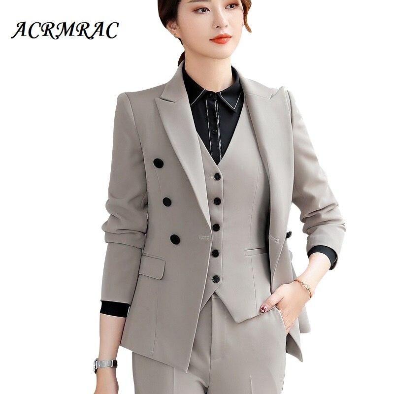 Acrmrac Frauen Anzüge Schlank Solide Farbe Jacke Rock 2 Stücke Set Ol Formale Frauen Rock Anzüge Frauen Anzüge