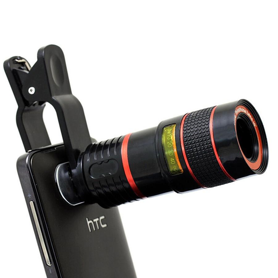 Universal Clip 8X Zoom Teleobjektiv HD Handy-kamera-objektive Für iphone 5 s Samsung S5 S6 S7 S6 rand S7 rand Xiaomi Huawei