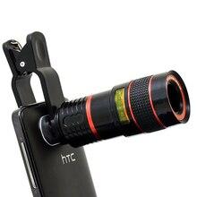 Universal Clip 8-КРАТНЫМ Зумом Телеобъектив HD Мобильный Телефон Объектива Камеры Для iphone 5s Samsung S5 S6 S7 S7 S6 край край Xiaomi Huawei