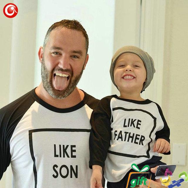 2016 T camisa Como Pai/Mãe/Filha/Filho Família Combinando Roupas Mãe de Manga Longa Do Bebê Dos Miúdos Das Mulheres Roupas Olhar família