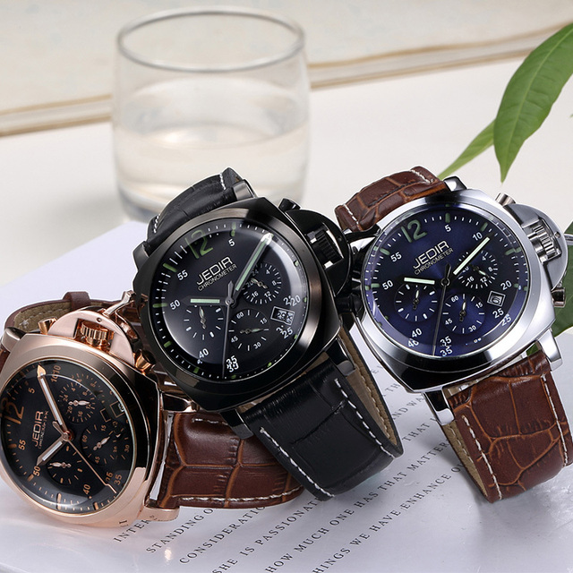 Vogue of new fund of 2016 military watches, JEDIR brand high-end leather strap watch, man multi-functional watches, luxury watch