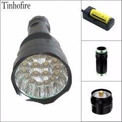 Tinhofire T18 18xT6 XM-L T6 30000 Lumens 5-Mode LED Flashlight Torch Lamp Light flashlight 18650/26650 Battery