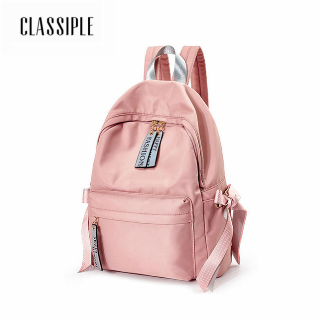 744583ba48 Women Backpack Fashion Casual Pink Bow School Bags For Teenagers Girls  Leisure Backpacks Female Rucksack Mall Women Backpacks