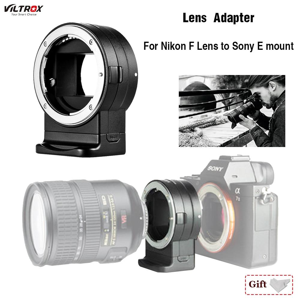 Lens Adapter Viltrox NF-E1 Mise Au Point Automatique pour Nikon F-Montage Série Objectif pour Sony E-mount A7II A7RIII a7SII A6500 Pour Nikon Sony Objectif