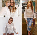 Summer Womens Casual Loose Lace Hollow Out Long Sleeve Blouse Tops