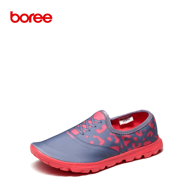 Boree Spring Women's Fashion Casual Shoes, Woman Loafers Flats Walking, Breathable Stretch Fabric,3D Color Print Lazy Shoes 477