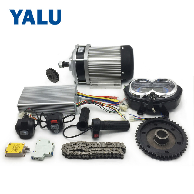 2200w 60v Electric Go Kart Scooter E Bike Motorized Bicycle Atv Moped Mini Bikes Geared Dc Motor Kit With Bm1424zxf Unitemotor