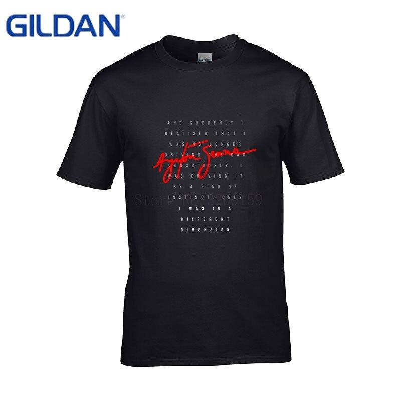 personalized tShirt en coton Hero F1 Ayrton Senna funny t Shirt men cotton Anti-Wrinkle big sizes t-Shirt man cool Tops Tees