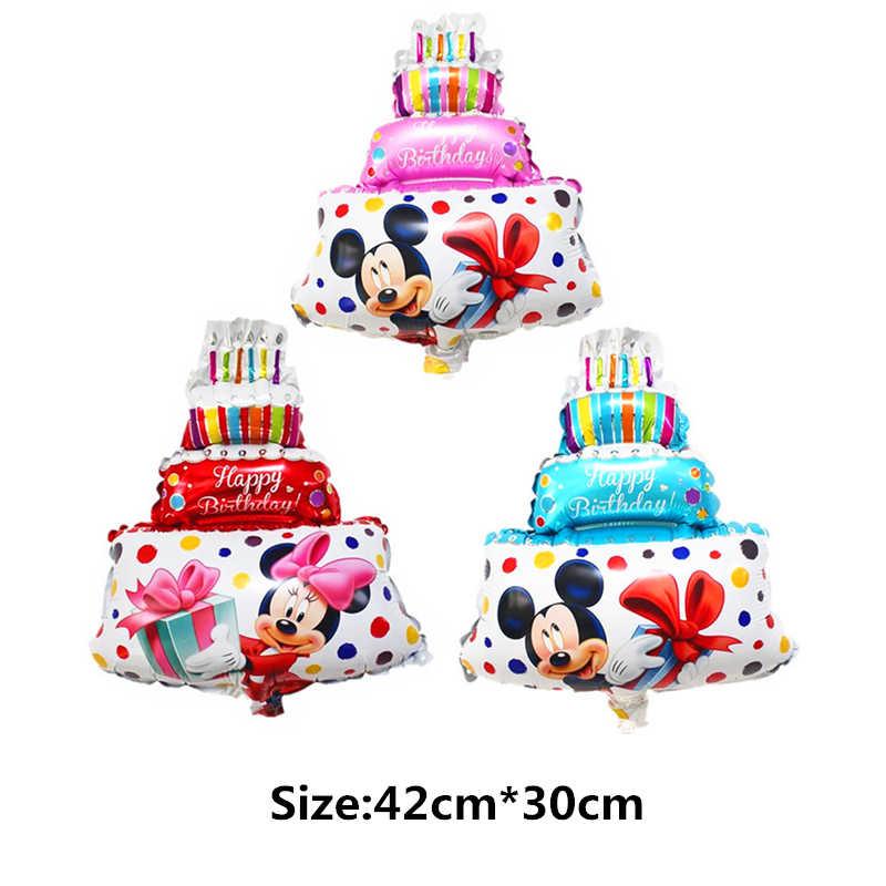 XXYYZZ Mini Dier Eenhoorn Mermaid Minnie Mickey Cake Liefde Ballonnen Kinderen Speelgoed Decoratie Verjaardagsfeestje Ballonnen
