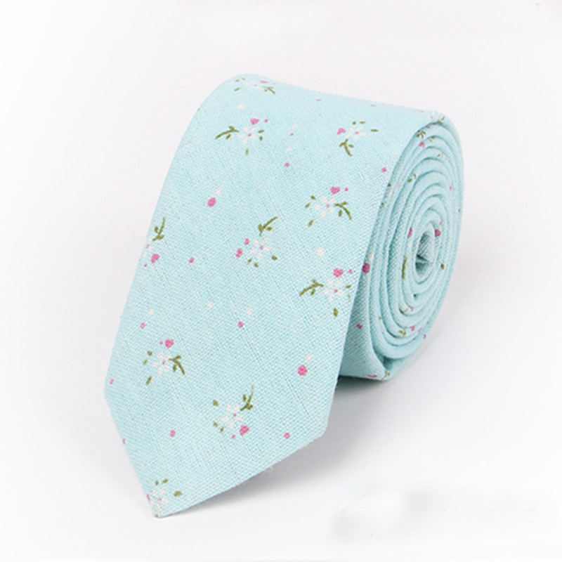 New Style Cotton Skinny Necktie Ties For Men's Suits Wedding Party Floral Necktie Slim Gravatas Vestidos Cravat